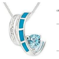 Wholesale Carat Turquoise & White Topaz & Blue Topaz Pendant from china suppliers