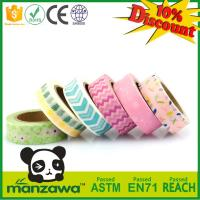 Buy cheap Custom Printed Japanese Washi Material Masking Tape, Adhesive Decorative Paper Tape from wholesalers