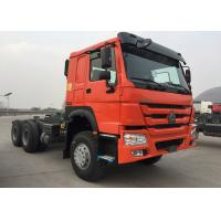 Wholesale Orange SINOTRUK HOWO Tow Tractor Truck RHD 10 Wheels 371 HP ZZ4257S3241W from china suppliers
