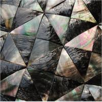 Wholesale Convex Surface Sea shell Wall Panel Black Butterfly Shell Decorating Panel Triangle 40mm from china suppliers