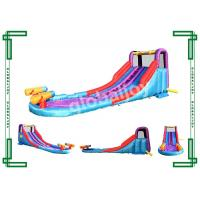 Wholesale Kids Inflatable Slide With Water Gun , Commercial Water Slide With Pool from china suppliers