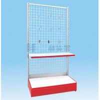 Wholesale 2 Tiers Metal Wire Mesh Single-Side Supermarket Shelf from china suppliers