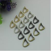 Buy cheap Best fashion gun metal color zinc alloy d ring,11mm metal bag d ring from wholesalers