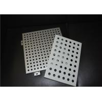 Wholesale 2.5 - 50mm Opening Width Aluminum Perforated Panel For Curtain Wall / Decorative Wall from china suppliers