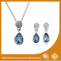 Wholesale Silver Plated Two Piece Bridesmaid Jewelry Sets With Synthetic CZ from china suppliers