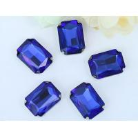 Wholesale Rectangle crystal sew on setting 4 hole sew on setting rhinestone from china suppliers