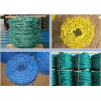 Wholesale Livestock Green PVC Coated Barbed Wire Fence With Great Rust Resistance from china suppliers