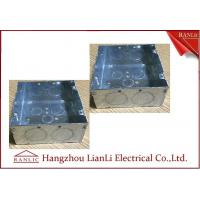 "Wholesale Hot Dip Metal Conduit Box , Metallic Galvanized 5"" * 5""  Steel Outlet Box from china suppliers"