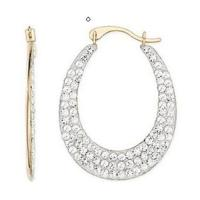 Wholesale Gold & white crystals Reversible earring from china suppliers