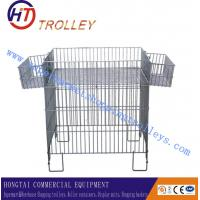Wholesale Recycling Powder Coating Wire Dump Bin With Adjustable Floor Collapsible from china suppliers