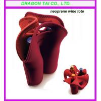 Wholesale Neoprene wine bags with handle,  3 bottles Neoprene wine bags, neoprene cooler bags from china suppliers