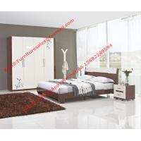 Wholesale Budget Hotel furniture in modern deisgn by panel bed and doors wardrobe in high glossy from china suppliers