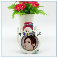 Wholesale Shinny Gifts Alloy materials Snowman photo frame for gifts promotion from china suppliers