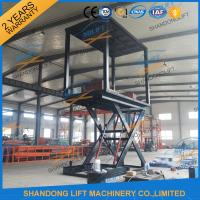 Wholesale 6T 3M Double Deck Car Parking System , Underground Hydraulic Scissor Car Lift For 2 Cars TUV from china suppliers