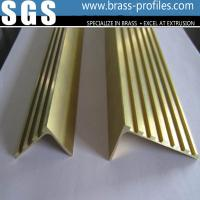 Wholesale Decorative Copper Material L Groove Stair Nosing In Brass Profiles from china suppliers