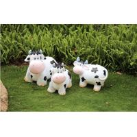 Quality Polyresin cute Cow Garden Decoration  recycling materials for sale