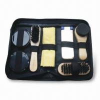 Wholesale Shoe Polish Set with 27 x 12cm Yellow Cloth, Sponge and 1 pieces of Bag from china suppliers