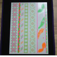 Wholesale Non - Toxic Neon Temporary Sticker Tattoos , Water Transfer Temp Fake Tattoo Stickers from china suppliers