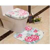 Wholesale Slip-resistance eco-friendly acrylic 2 Piece Bath Mat Set washable for toilet from china suppliers