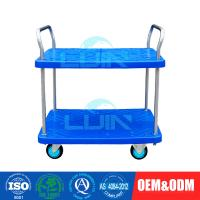 Wholesale Two Layer Light Duty Moving Platform Hand Pulled Trolley with 4 Wheels from china suppliers