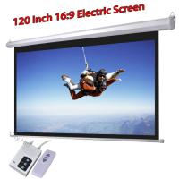120 Inch 16 To 9 Electric Projection Screen Wall Mount For