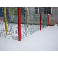 Wholesale PVC Coated Welded Wire Mesh Fence,3 bends wire mesh fence with post from china suppliers