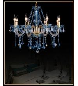 Wholesale Modern crystal chandelier Kitchen Bedroom lustre de sale dining room lustre de cristal para sala de jantar Blue Color from china suppliers