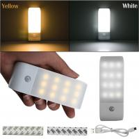 Buy cheap 12 LED Intelligent Infrared Induction Sensor Lamp USB Rechargeable pop sockets Nightlight Wardrobe Lights Durable Wholes from wholesalers