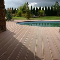 Wholesale Water-resistant Smooth WPC Decking Flooring Skidproof Brown For Pool from china suppliers