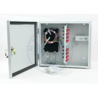 Buy cheap Outdoor IP65 wall mounted 12 / 24 ports fiber optic terminal distribution box from wholesalers
