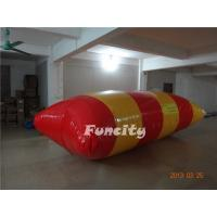 Wholesale yellow and red inflatable water blob games for Adventure Water Park from china suppliers