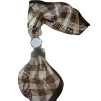 Wholesale Beautiful Silk Plaid Scarf Lady Womens Quartz Watches , Antique scarf watch from china suppliers