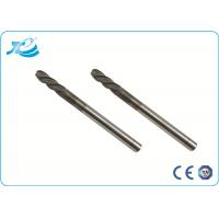Wholesale TiAIN Coating Solid Carbide End Mill with HRC 55 Degree , Diamond Coated End Mills from china suppliers