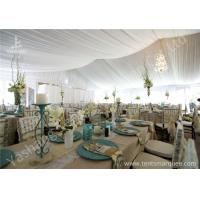 Noble and Bright Fabric Tent Marquee for Luxury Wedding Events and Parties on Grassland
