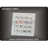 Wholesale IP65 16 Keys Industrial Metal Keyboard with integrated functional Digital keypad from china suppliers