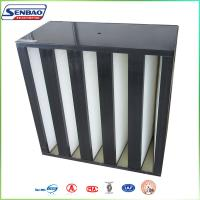 Wholesale Clean Process Manufacturing Large Dust Capacity V Bank Absolute Hepa Air Filters from china suppliers
