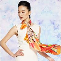 Wholesale OEM / ODM 50*50 cm Grey Cool Satin Summer Ladies Neck Scarves for warmth, cleanliness from china suppliers