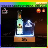 Wholesale Custom wine/beer display rack with LED light from china suppliers