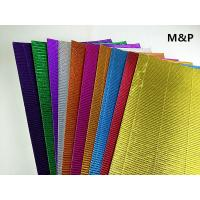 Wholesale Gold Silver Double Corrugated Craft Paper , E Flute Corrugated Sheets Creative DIY Material from china suppliers