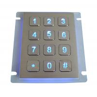 Wholesale IP67 dynamic water proof vandal proof Stainless Steel keypad with industrial backlit from china suppliers