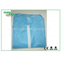 Wholesale Colored Zip medical lab coats for Workers , lightweight lab protective clothing from china suppliers