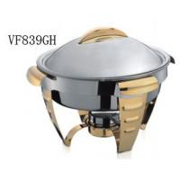 Wholesale Gold Accented Round Soup Chafing Dish Buffet Set For Hotel / Restaurant from china suppliers