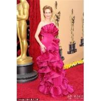 Wholesale Vera Farmiga Sheath / Column Court Trains Sleeveless Satin Oscar/ Evening Dress OD0003 from china suppliers