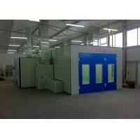 Quality Bodyshop Gas Burner Paint Spray Booth Roller Door Combined Mixing Room for sale