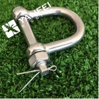 Wholesale Stainless Steel D Shackle With Safety Screw Pin from china suppliers