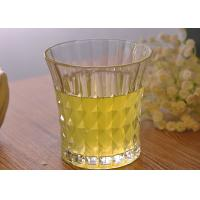 Wholesale 200ml 7oz Clear Embossed water tumbler glass for Soft Drink , Dimond Design from china suppliers