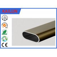 Wholesale 6061 Aluminum Oval Tubing , silver / Champagne Anodized Aluminum Structural Tube from china suppliers