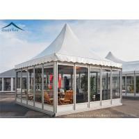 Wholesale White Color PVC Roof Pagoda Tents With Clear Glass Wall UV - Resistant from china suppliers