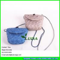 Wholesale LUDA monogrammed beach bag handmade wheat straw sling shoulder bags from china suppliers