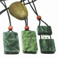 Wholesale Jade Stone USB Flash Drive/Stone USB Memory Stick for Gifts, Made of Real Jade Stone Material  from china suppliers